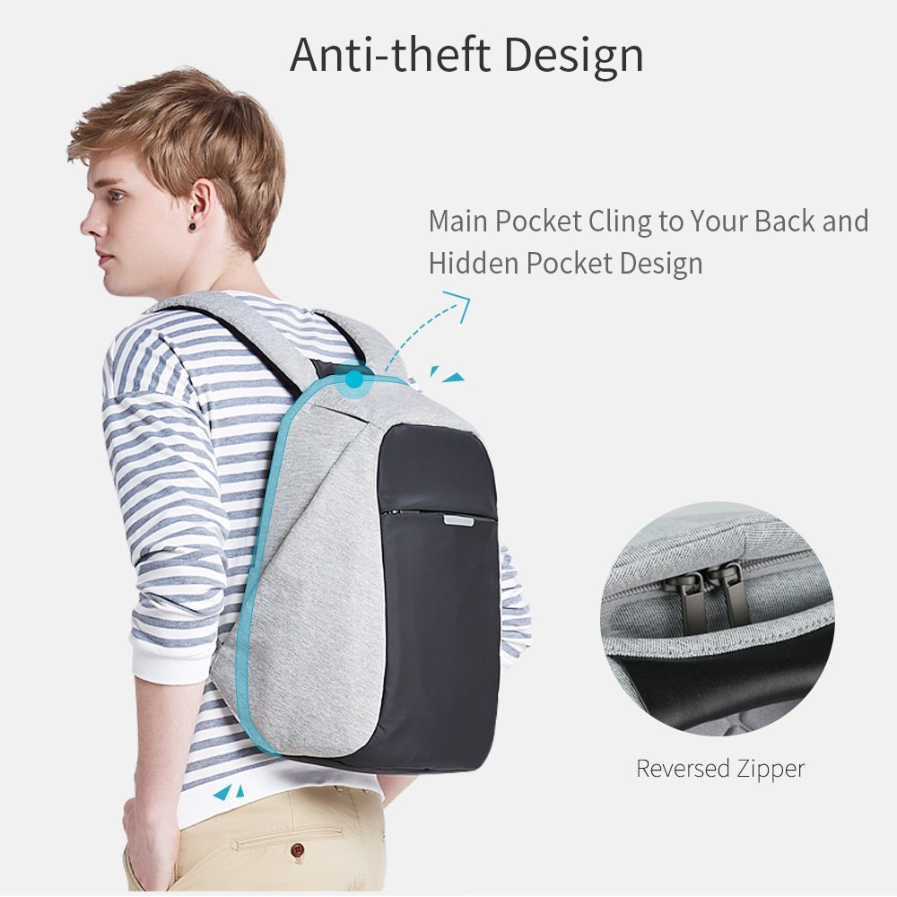 Oscaurt Business Travel Backpack, Laptop Backpack College School Bookbag with USB Charging Port for Men Women Anti-theft Water Resistant Daypack for Most 15.6 Inch Laptop by oscaurt (Image #5)