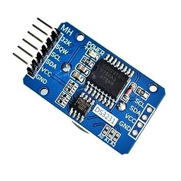 Módulo de reloj de alta precisión RTC en tiempo real DS3231 AT24C32 de DaoRier, con módulo de memoria ICC para microcontrolador Arduino Raspberry Pi: ...