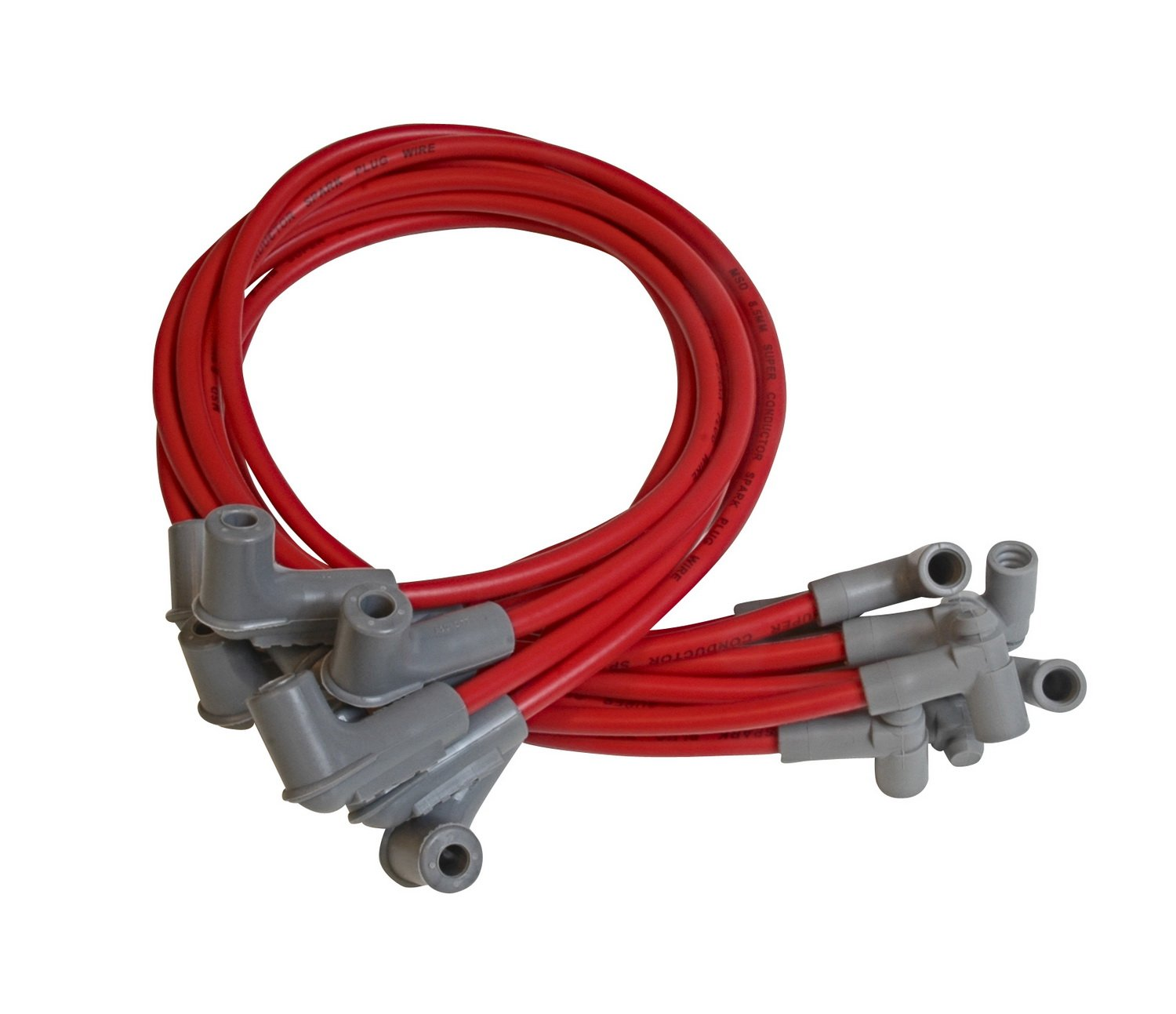 MSD 35609 Red 8.5mm Super Conductor Spark Plug Wire Set by MSD