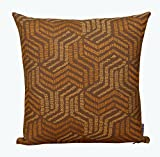 WOVENMOSAIC Kandha Throw Pillow Cover or Cushion Cover 100% Cotton, 18 X 18 Inch, with Solid Color Backing