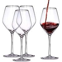 WYK Juego de copas de vino de cristal