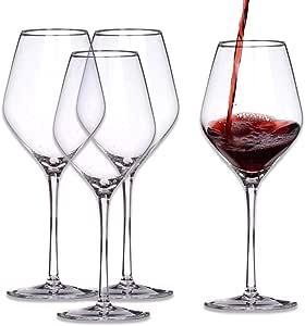 WYK Juego de copas de vino de cristal, sin plomo, para postre de vino tinto, copa de vino blanco, colección de copas de vino, copa de vino de Navidad personalizada, copa de