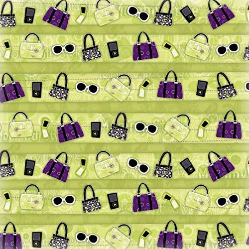 Paper Fashionista - KAREN FOSTER 12 x 12-Inch Scrapbook Paper 25 Sheets, Chic Stripe