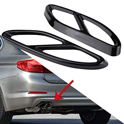 2* Exhaust Pipe Cover Trim for Benz GLC A B C E Class C207 Coupe W176 W205 14-17