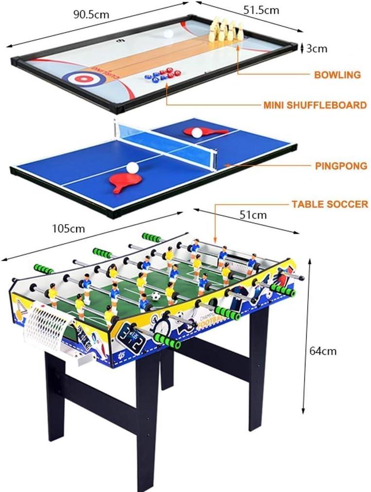 BEANFAN Multifuncional de Mesa de fútbol Juego de Mesa de Ping Pong Bolos (Tamaño: 105x51x64cm): Amazon.es: Deportes y aire libre