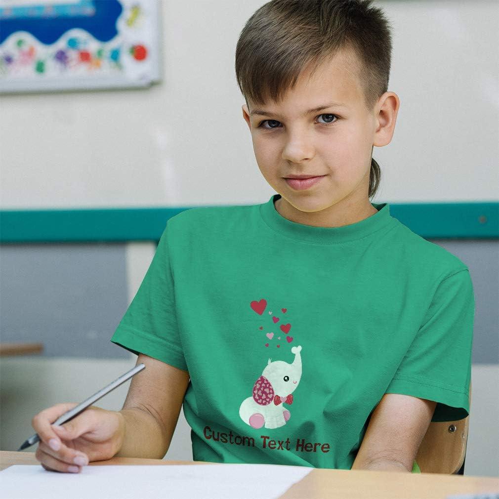 Custom Baby /& Toddler T-Shirt Valentine Elephant Cotton Boy Girl Clothes