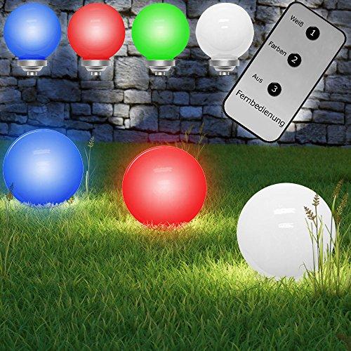 LED Solarkugel Kugelleuchte Solarleuchte Leuchtkugel Gartenleuchte Lampe Farbwechsel Ø 30cm