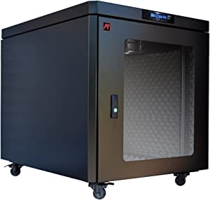 Sysracks 12U 35 inch Depth Soundproof Server Rack Cabinet Quiet Server Cabinet Enclosure Silent Acoustic Server Rack up to 36% Noise Reduction