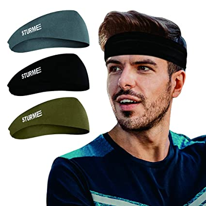 a55fcaedf577 STURME Mens Headbands-Guys Women Sweatband   Sports Headband for Running  Working Out Yoga Basketball