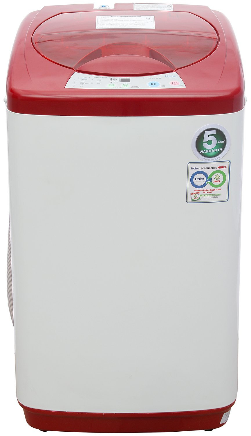 Haier 5.8 kg Fully-Automatic Top Loading Washing Machine (58-020-R, Red)
