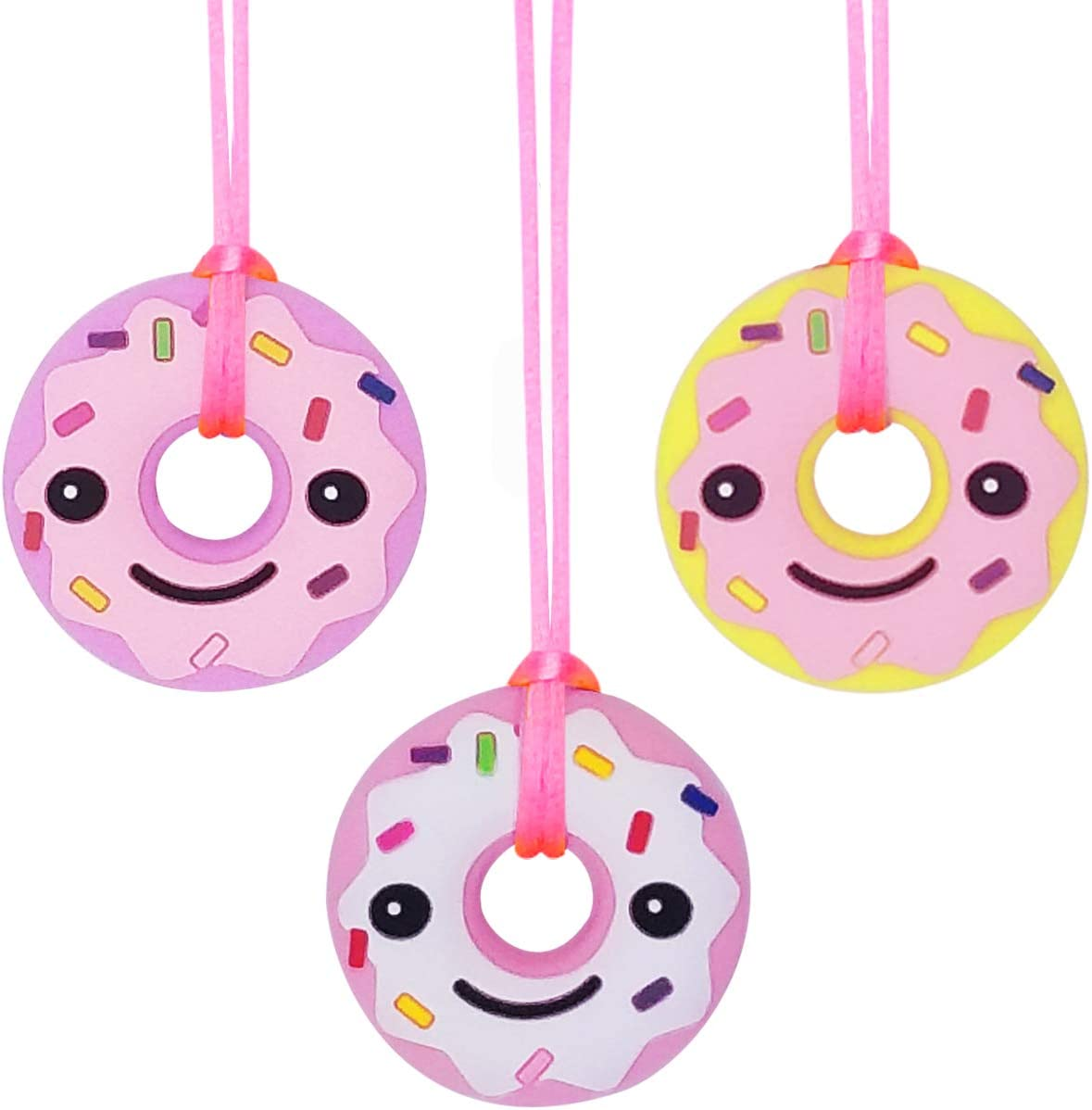 3 Pack Designed for Autism Sensory Chew Necklace for Kids BPA Free /& Durable Girls Oral Motor Girls ADHD - Oral Sensory Chew Toys Teether Necklace Chewing Necklace Teething Necklace