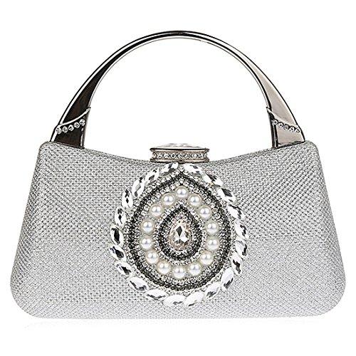 Elegant UNYU pour femme Pochette Handbag silver dwxRwr1