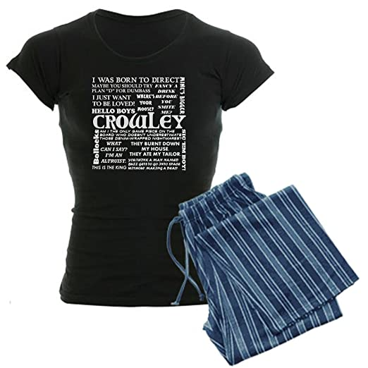 3af2737878 Image Unavailable. Image not available for. Color  CafePress - Crowley Quotes  Women s Dark Pajamas - Womens Novelty Cotton Pajama Set