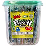 """Sour Punch 6"""" Individually Wrapped Assorted Flavor Twists, 2.71LB Jar"""