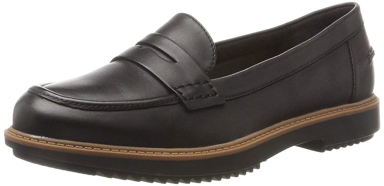 Clarks Femme Leather) Raisie Eletta, Mocassins (Loafers) Femme Noir (Black Mocassins Leather) f9a4f79 - tbfe.space