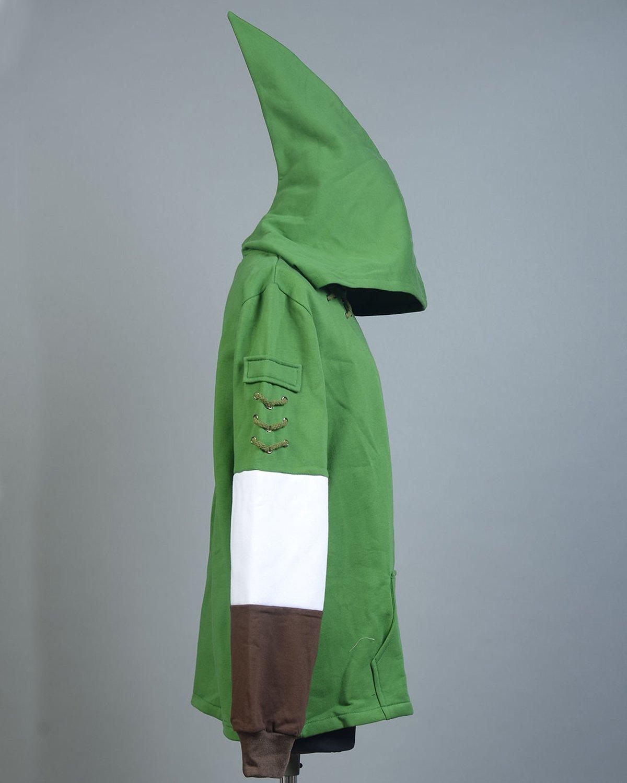 Ya-cos The Legend of Zelda Link Hooded Coat Sweatshirt with Minish Cap Costume Green by Ya-cos (Image #5)