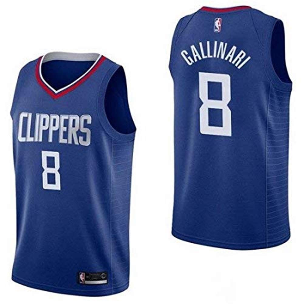 Sportswear Style Gym Ldwxxx NBA Danilo Gallinari Los Angeles Lakers # 8 Vest Vest Color : Blue, Size : S
