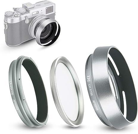 argento Anello adattatore per filtro obiettivo Fujifilm Fuji FinePix X70 X100 X100S X100T X100F per fotocamera da 49 mm UV CPL ND filtro copriobiettivo sostituzione Fujifilm AR-X100 Haoge LAR-X100W