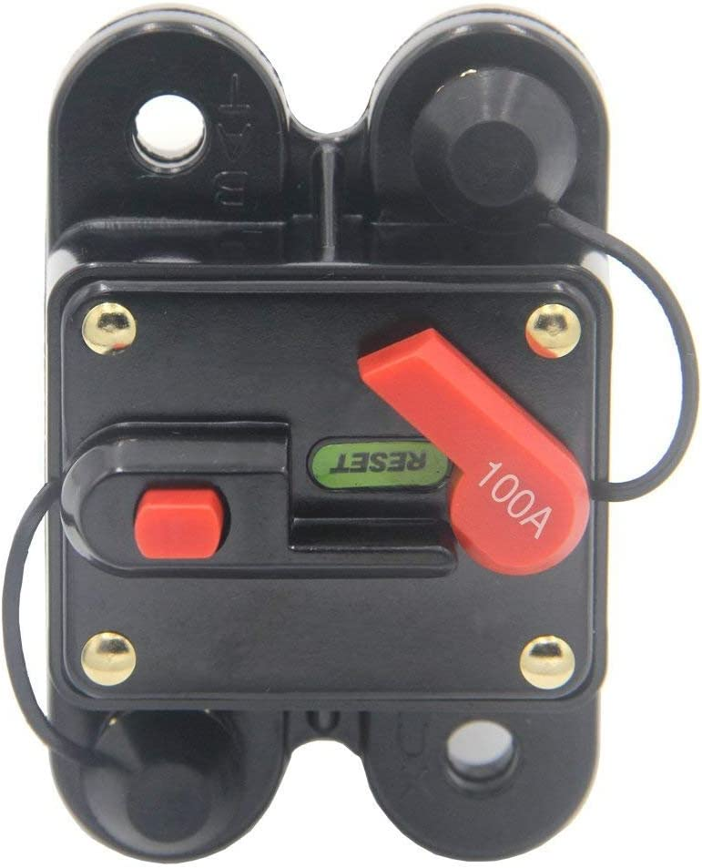 80-300A AMP Car Marine Stereo Audio Inline Replace Fuse Circuit Breaker 12V-24V