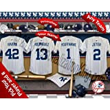 New York Yankees Team Locker Room Clubhouse Personlized Officially Licensed MLB Photo Print