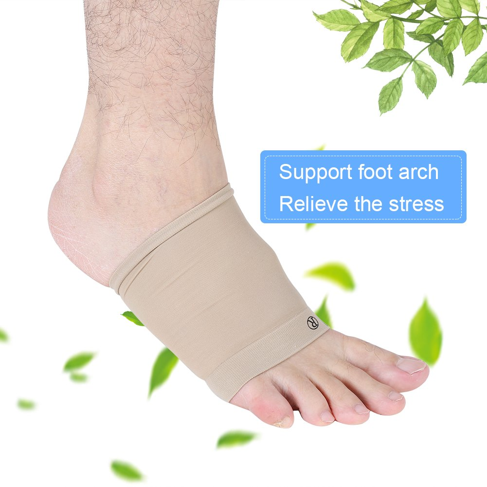 protection du talon pour le soulagement de la douleur du coussin de pied Soutien de la vo/ûte plantaire en gel coussins en silicone souple pour la correction du gel