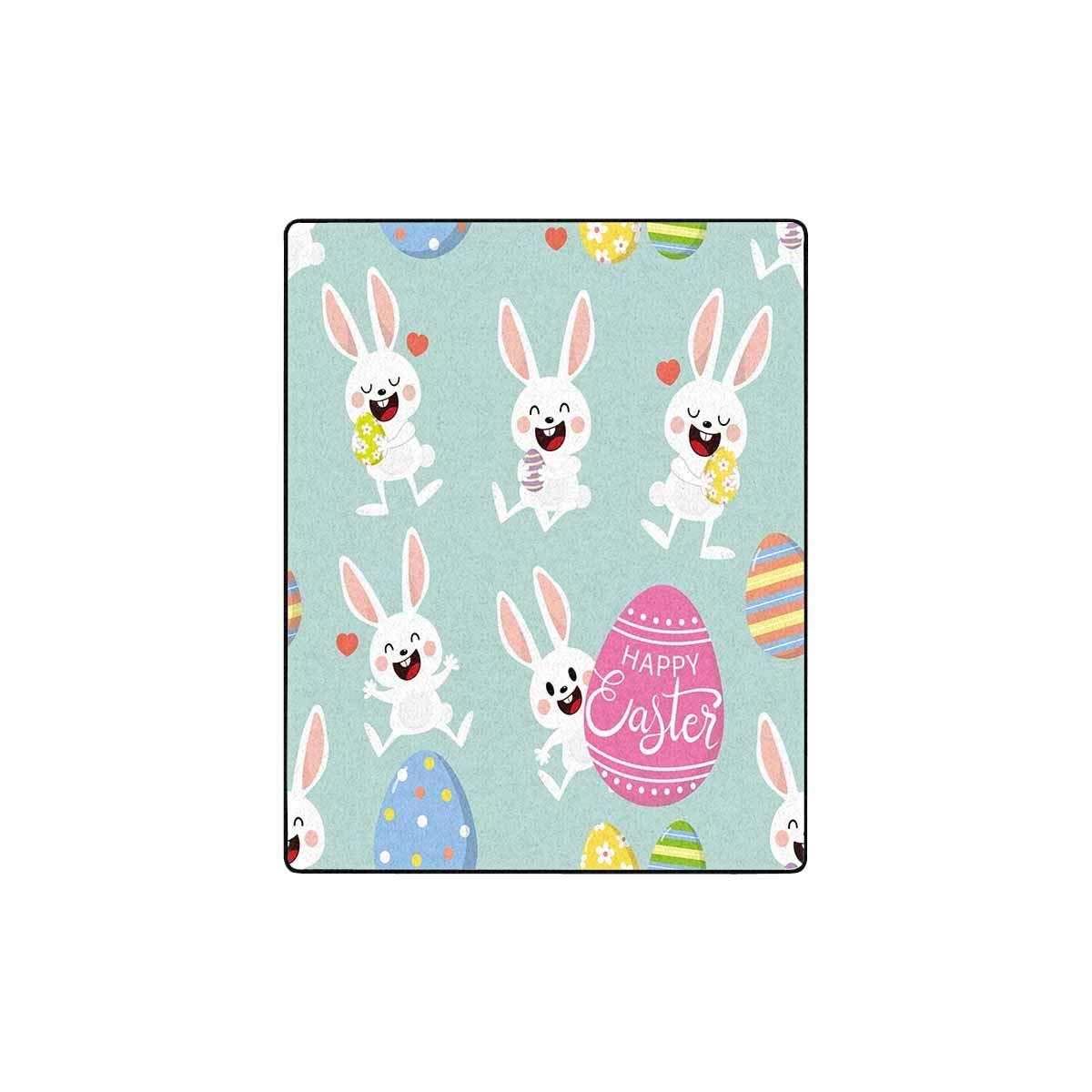 Amazon.com: INTERESTPRINT Cute Easter Eggs and Bunny Super ...