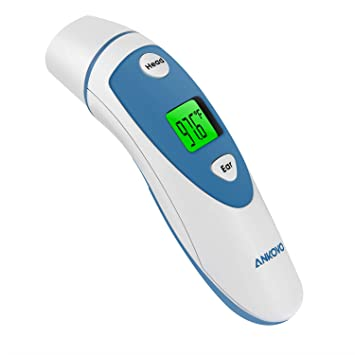 ANKOVO Medical Forehead and Ear Thermometer,Infrared Digital Thermometer Suitable for Baby, Infant,