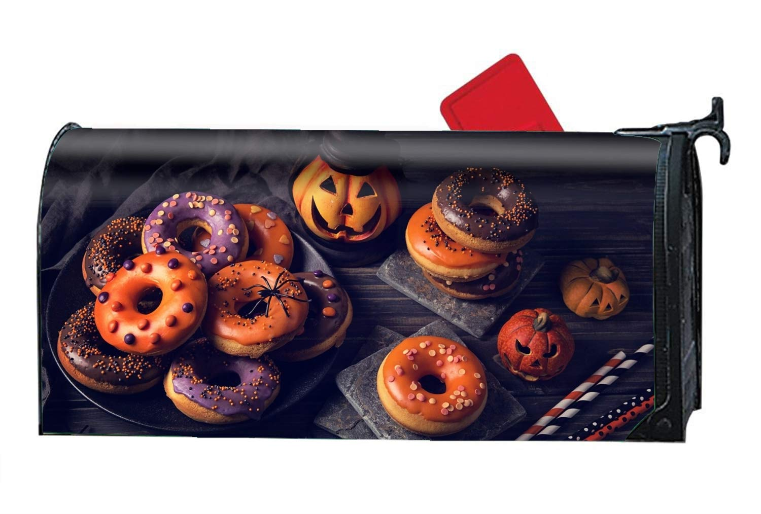 Niaocpwy Holiday Halloween Custom Magnetic Mailbox Cover Mail Wrap for Large Mailboxes Size 9'' x 21''