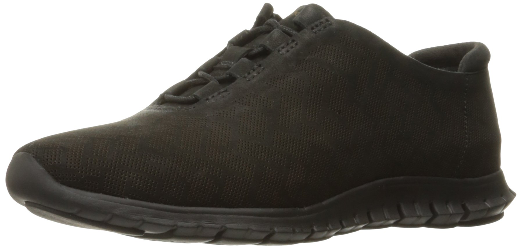 Cole Haan Women's Zerogrand Genevieve Perf Trainer, Black Perforated Nubuck/Black, 11 B US