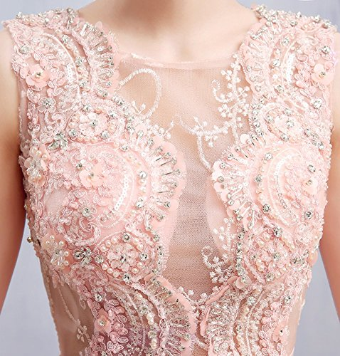 Tailing Applique Spitze Ansatz Emily Sweep Blumen O Beauty Champagner Abendkleider Arm Ohne qzwBxC0