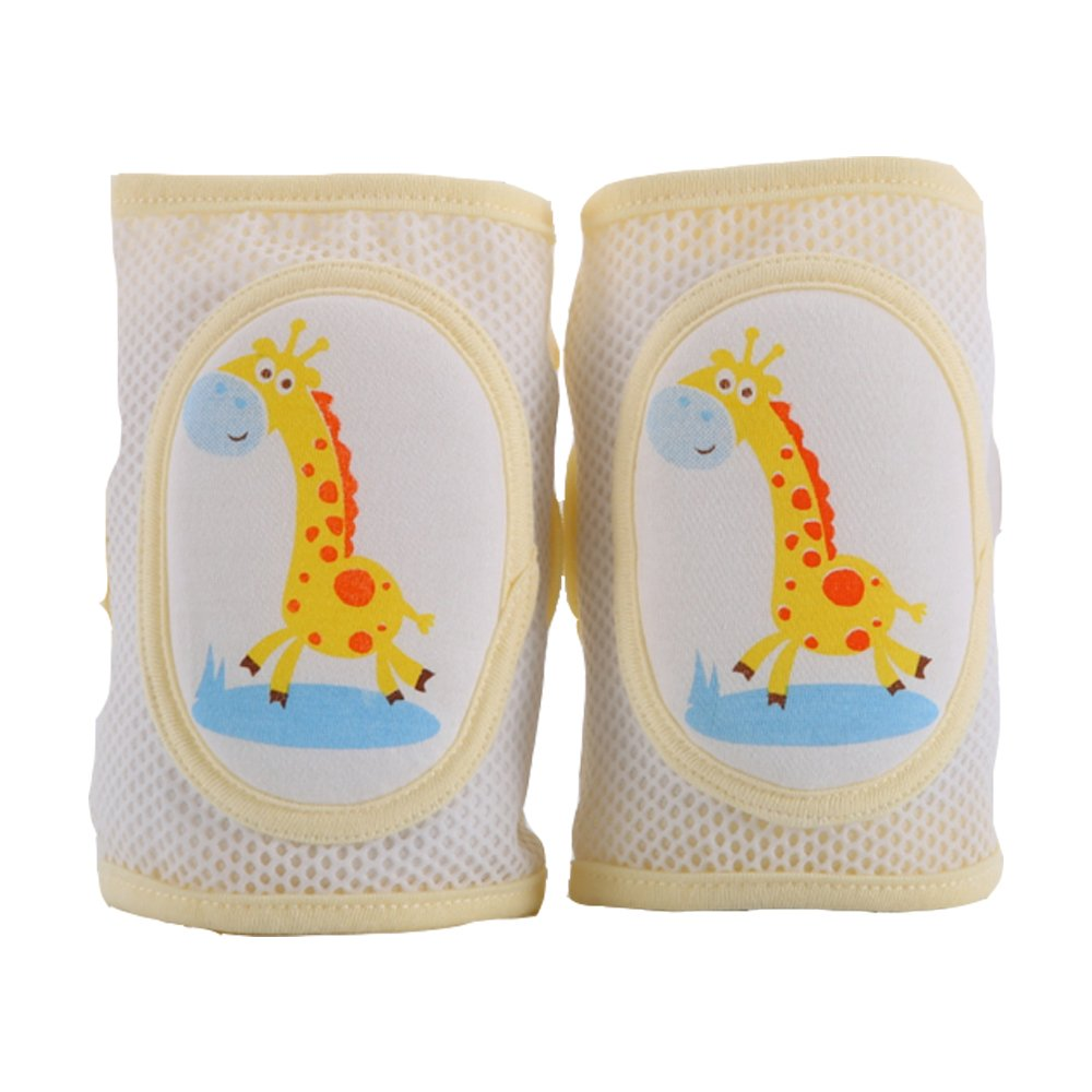 1 Pair of Knee Trim Container for Baby Crawling Safety for Toddlers (Yellow Giraffe) Newin Star