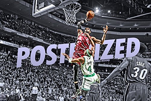 James Fabric Lebron (Tomorrow sunny Lebron James over Jason Terry Poster Art for Living Room in Canvas Print)