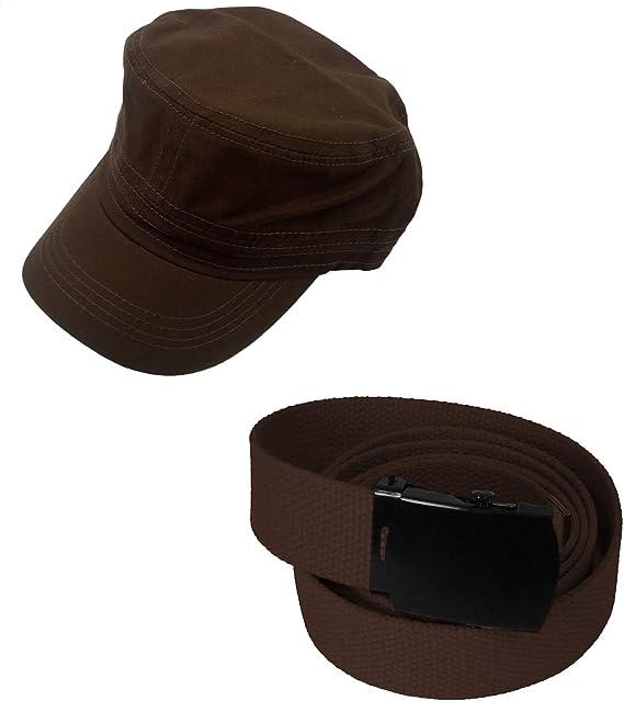 Amazon.com: Enimay Sombrero y Canvas Cinturón Bundle negro ...