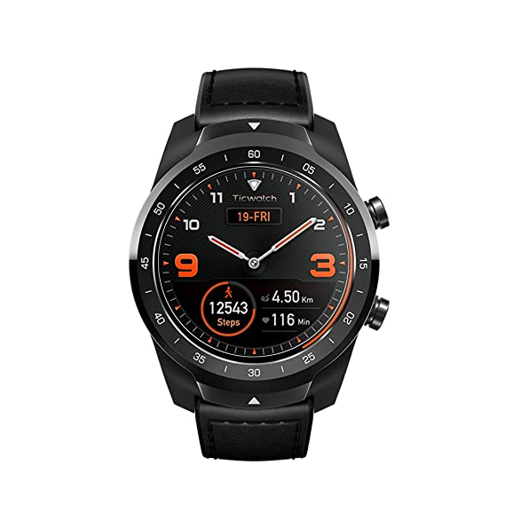 Zshion Protector de Pantalla para TicWatch Pro (2 Unidades, dureza 9H, Protector de Pantalla de Cristal Templado para Ticwatch Pro Smart Watch con ...