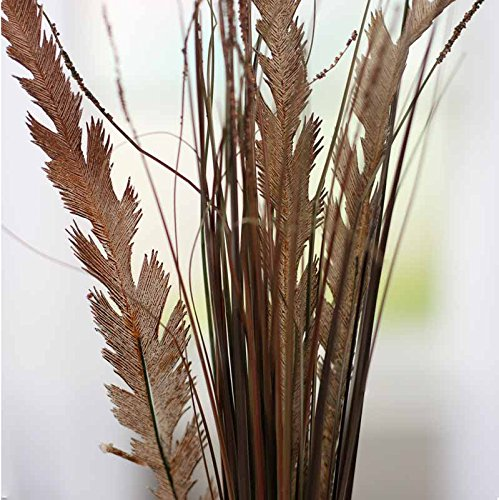 Factory Direct Craft Trio of Artificial Brown Feather Fern and Grass Sprays for Arranging, Crafting and Embellishing