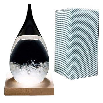 Viicare Predicción del Tiempo Crystal Weather Forecasting Storm Glass Creativo Elegante Desktop Drops de Cristal de