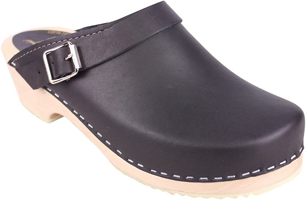 Lotta From Stockholm Classic Clogs with Moveable Strap in Black
