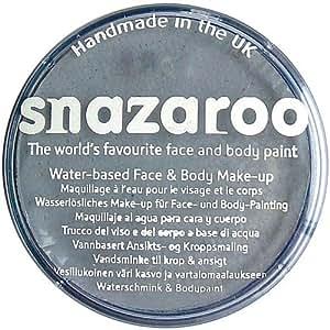 Snazaroo - Maquillaje al agua para cara y cuerpo (75 ml)- color gris oscuro