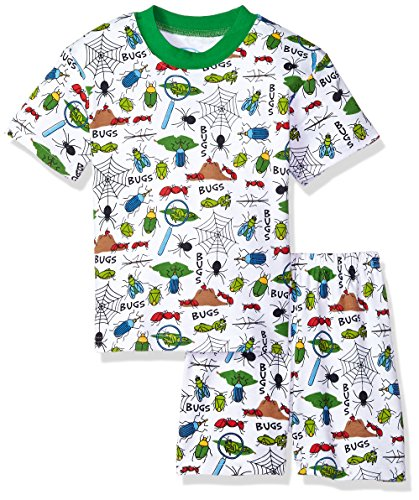 Sara's Prints Boys' Little 2 Piece Relaxed Fit Pajama Set Bugs, (Fashion Bug Clothing Store)