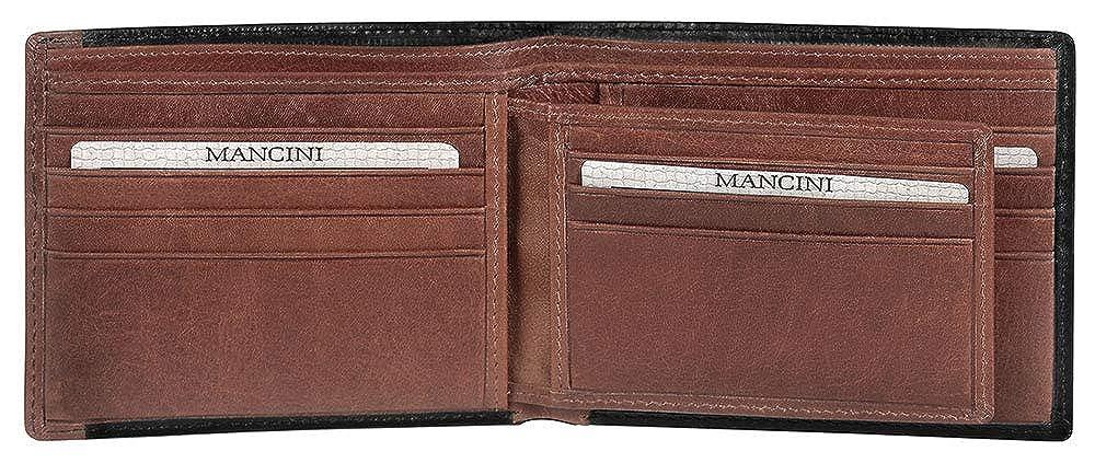 Amazon.com: Mancini RFID - Cartera de piel para hombre con ...