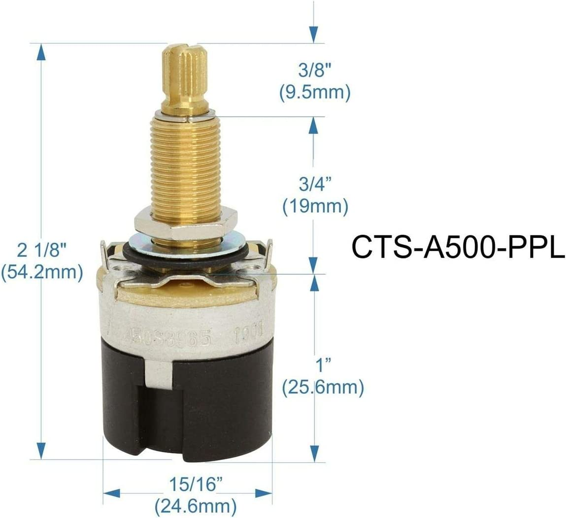 CTS NEW 500K Long Shaft Audio Pot Split Shaft