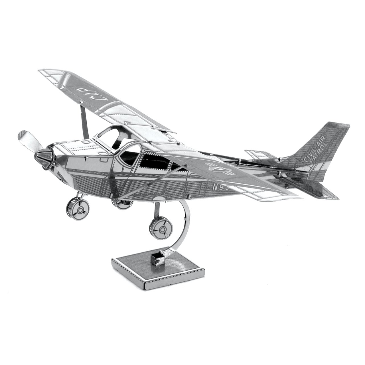 Metal Earth Fascinations Cessna 172 Airplane 3D Metal Model Kit