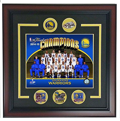 (Golden State Warriors 2015 NBA Champs Framed Photo Pin Set - 18