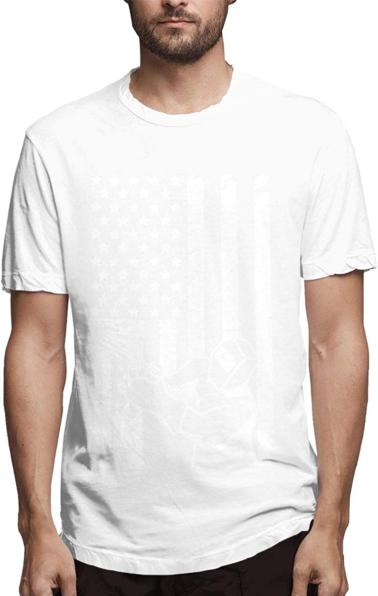 Camiseta Deportiva para Hombre, diseño de Bandera Estadounidense, Estilo Hipster Blanco Blanco 34-37: Amazon.es: Ropa y accesorios
