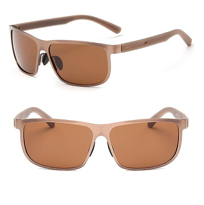 Marco de metal polarizadas de protección UV400 tac lentes Gafas de sol para conducir