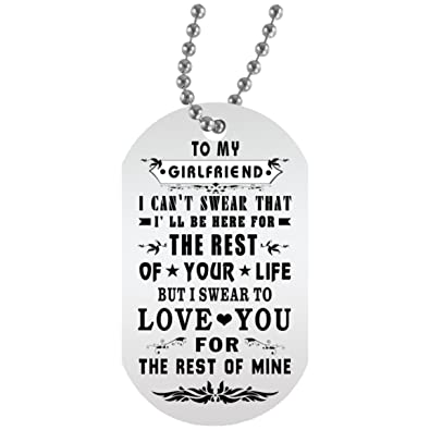 Amazoncom To My Girlfriend Dog Tag With Chain Girlfriend And