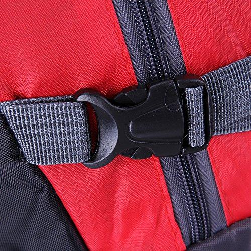 Broadroot extérieur léger Camping Sac à dos alpinisme Voyage Grande capacité étanche Sacs Rouge