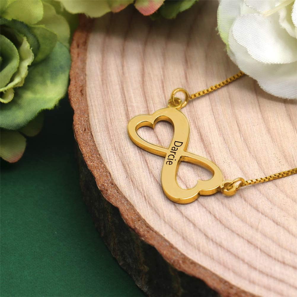 FACOCO Personalized Baby Name Necklace Gold Plated Fashion Mens /& Womens Private Customized Necklace