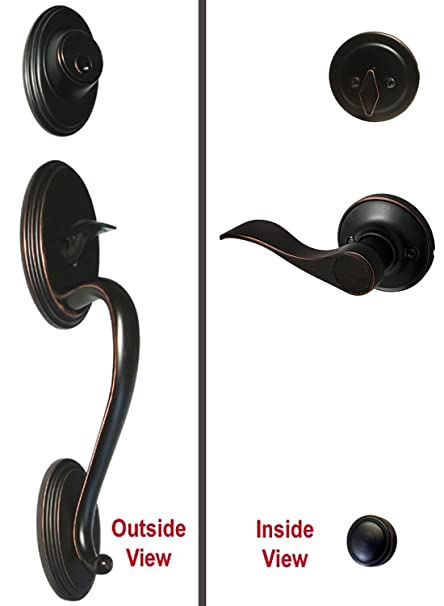 Dark Oil Rubbed Bronze Lock Door Lever Handle Entryprivacy