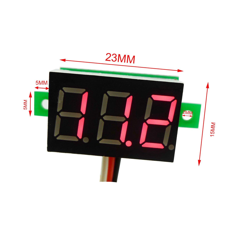 Aihasd 0,36 jaune LED DC 0-100V Mini voltm/ètre num/érique